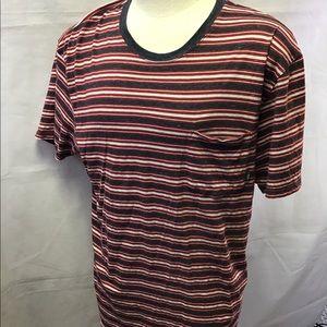 Vans shirt red gray striped 2XL